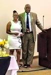 McNair Scholar, Auriel Jasper Morris, receiving Dr. Rivera Award, 2019 by Xavier University of Louisiana